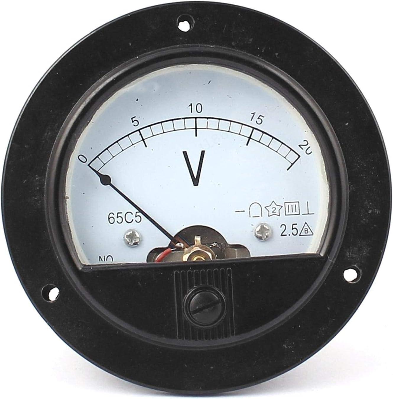 ZXYAN Voltmeter analog DC 0-20V Analog Panel Meter Volt Spannung Schwarz Farbanzeige Analog Voltmeter