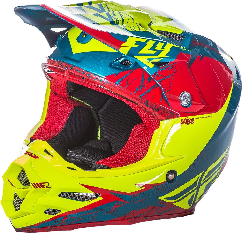 Fly Racing Unisex-Adult Full-face Style F2 Mips Retrospec Helmet Red//Hi-Vis X-Small 73-4223XS