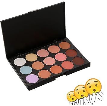 Amazon.com : Kissemoji 15 Colors Cosmetics Cream Contour Makeup ...