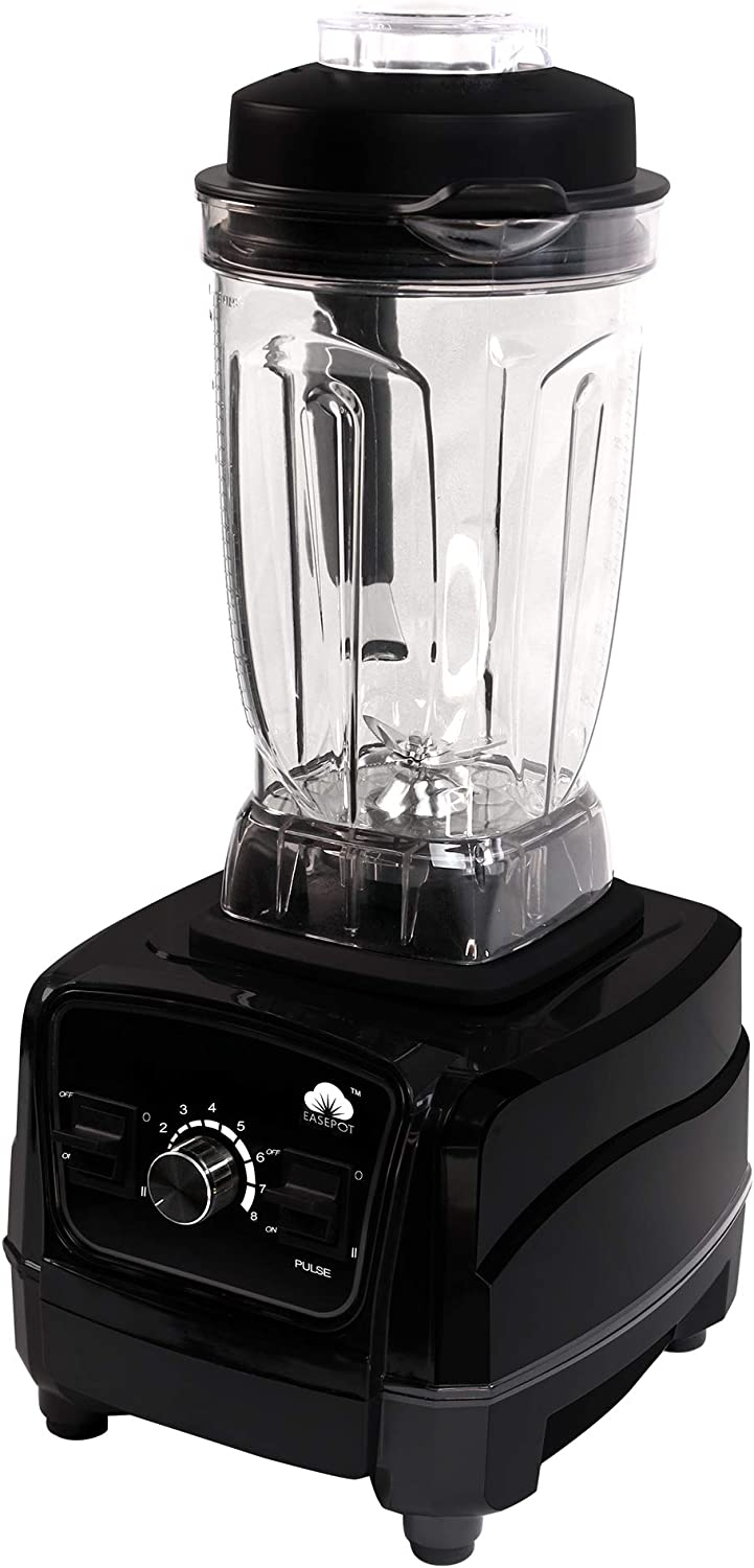 Easepot Countertop Blender, 1450 Watt Professional High Speed Blender with 8-Speed Control, Pulse for Shakes, Smoothies, Frozen Fruit, Ice Crushing