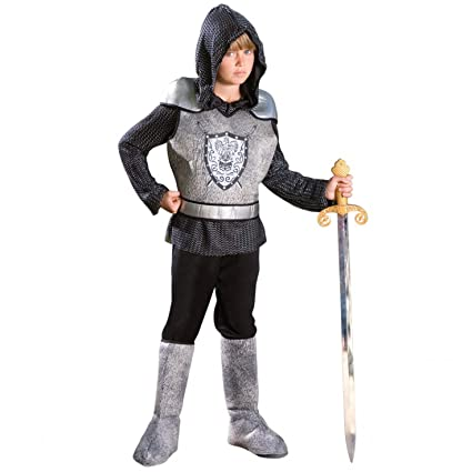 Morph Boys Knight Costume, Silver, Medium