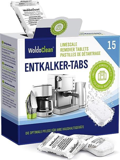 Descalcificador Cafetera Pastillas de descalcificación - 15x 16g Tabletas para máquina de café, Compatible con marcas Delonghi, Dolce Gusto, Nespresso, Seaco, Krups, Senseo: Amazon.es: Hogar
