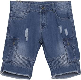 Newness Pantalones Cortos para Niños Short Vaquero Bermudas Vaqueras para Niños 8-14 Años (58407)
