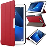 iHarbort Samsung Galaxy Tab A 7.0 Case Cover - Ultra Slim Lightweight shell Holder Stand Leather Case Cover for Samsung Galaxy Tab A 7.0 Inch SM-T280 SM-T285 (Galaxy Tab A 7.0, Red)