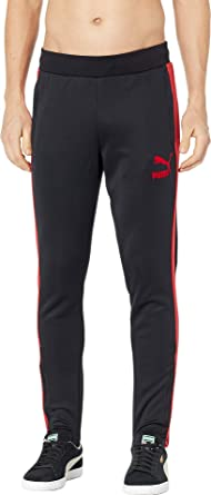 36b30045eed0 PUMA Men s T7 Vintage Track Pants Puma Black Ribbon Red X-Large 33 ...