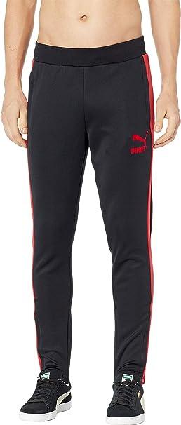c2f5a8ba0d2f PUMA Men s T7 Vintage Track Pants Puma Black Ribbon Red Small 33 ...
