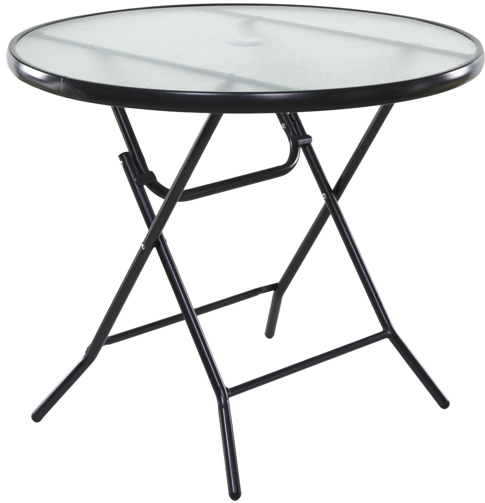 OneSpace Basics 34'' Round Folding Patio Table, Clear