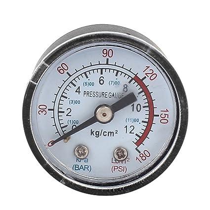 1/8BSP Rosca Macho Diámetro Compresor de Aire Barómetro 0-12 Bar 0-