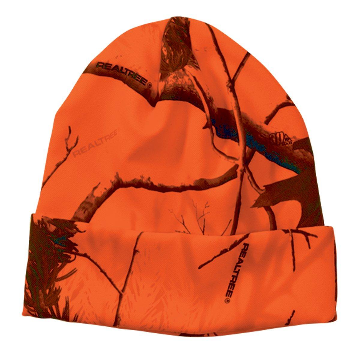 Realtree Licensed Camo Knit Cuff Beanie (Realtree Blaze Orange) by Realtree