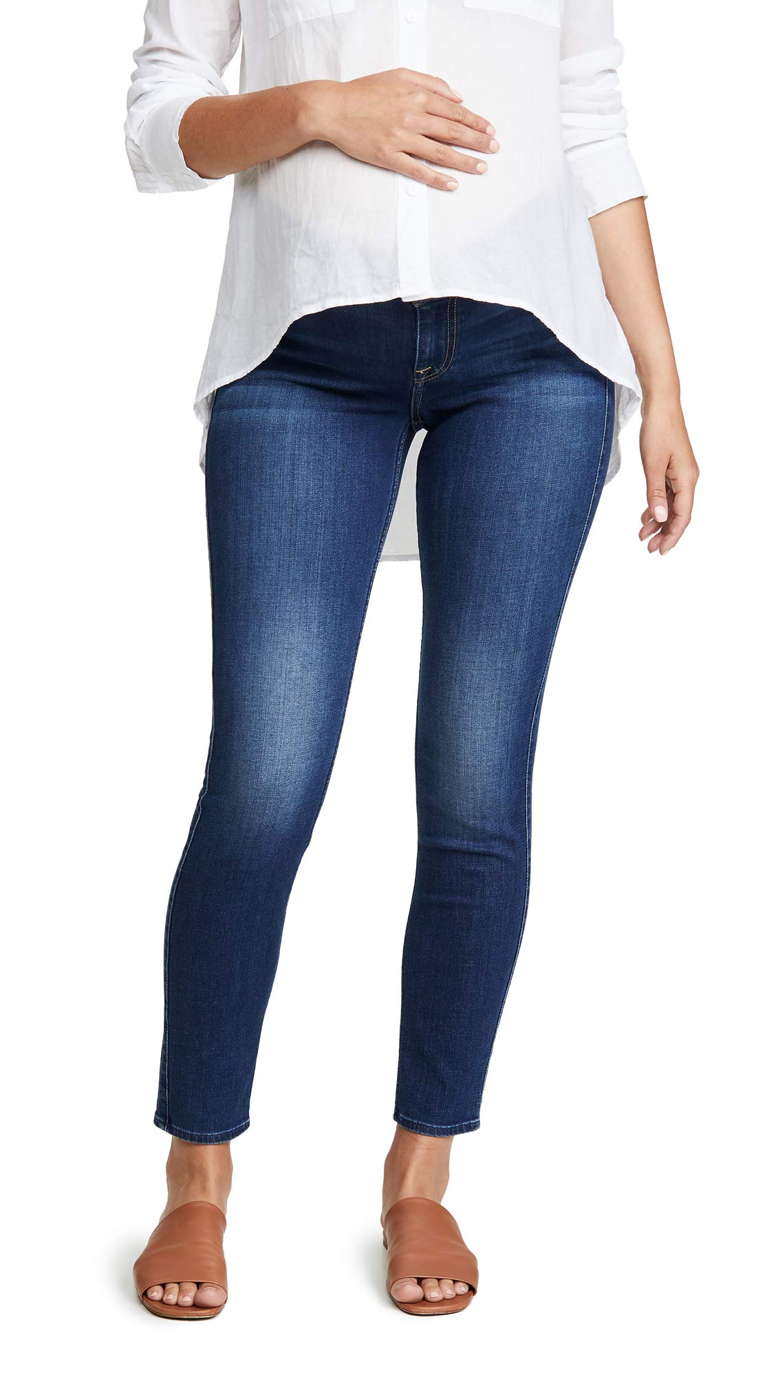7 For All Mankind Women's The Ankle Skinny Maternity Jeans, B(Air) Duchess, Blue, 27 by 7 For All Mankind