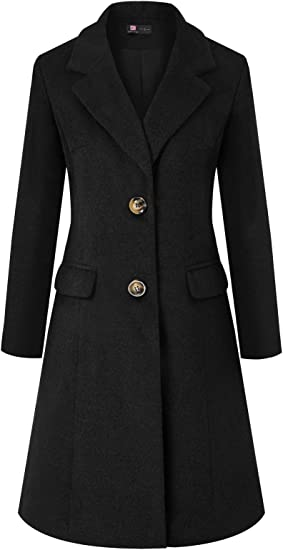 Women Winter Warm Single Breasted Slim Lapel Long Trench Coat Overcoat Outwear