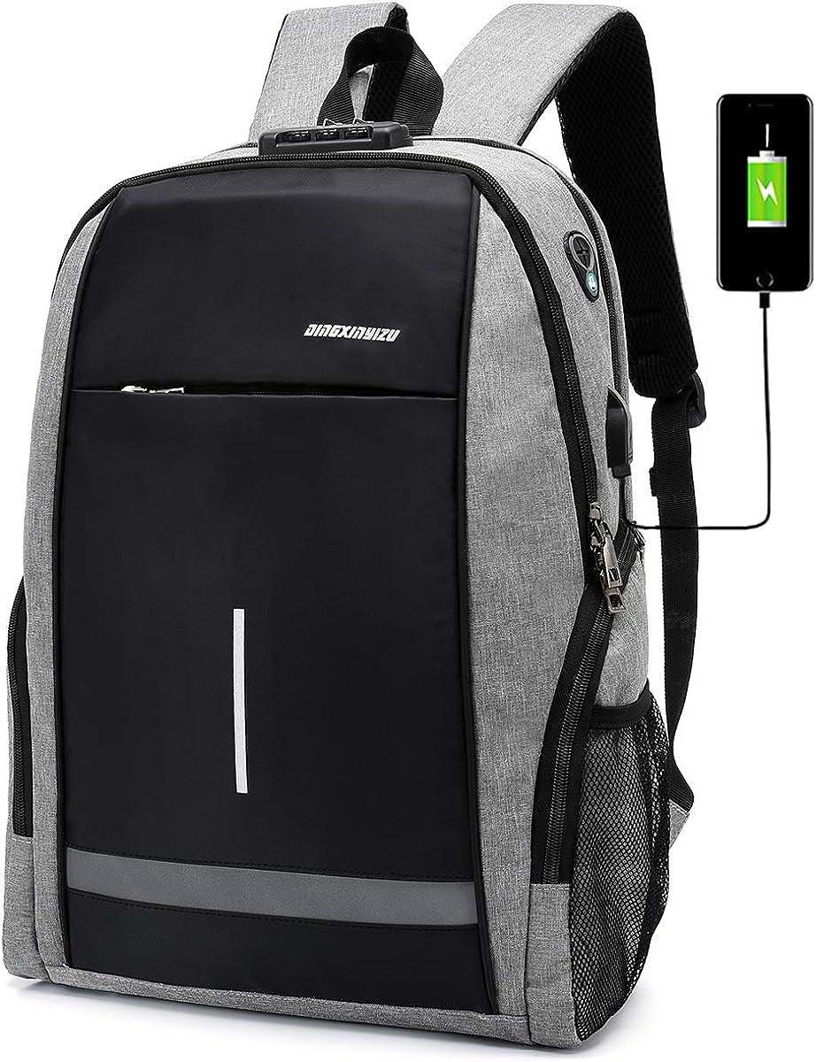 USB Charging Laptop Backpack College School Computer Bag for Women Men