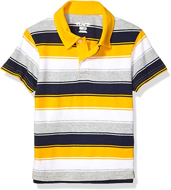 The Childrens Place Boys Three Color Striped Polo