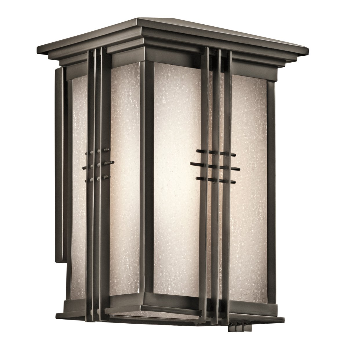49158OZ Portman Square 1LT 11IN Exterior Wall Lantern, Olde Bronze Finish with Etched Seedy Glass by Kichler  B004MTT5W4