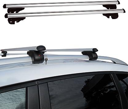 Barras de techo Fifth Gear de aluminio resistente, con bloqueo antirrobo, universales
