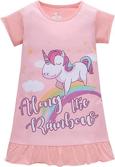 Pijama de Unicornio Rosa con Estampado de arcoíris, Regalo ...