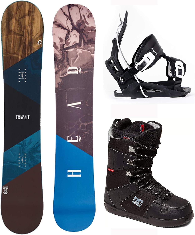 2021 Flow Head Transit 156 cm Mens Snowboard Package Bindings DC Boots