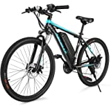 ANCHEER Electric Bike Electric Mountain Bike 350W Ebike 26'' Electric Bicycle, 20MPH Adults Ebike with Removable 7.8/10.4Ah B