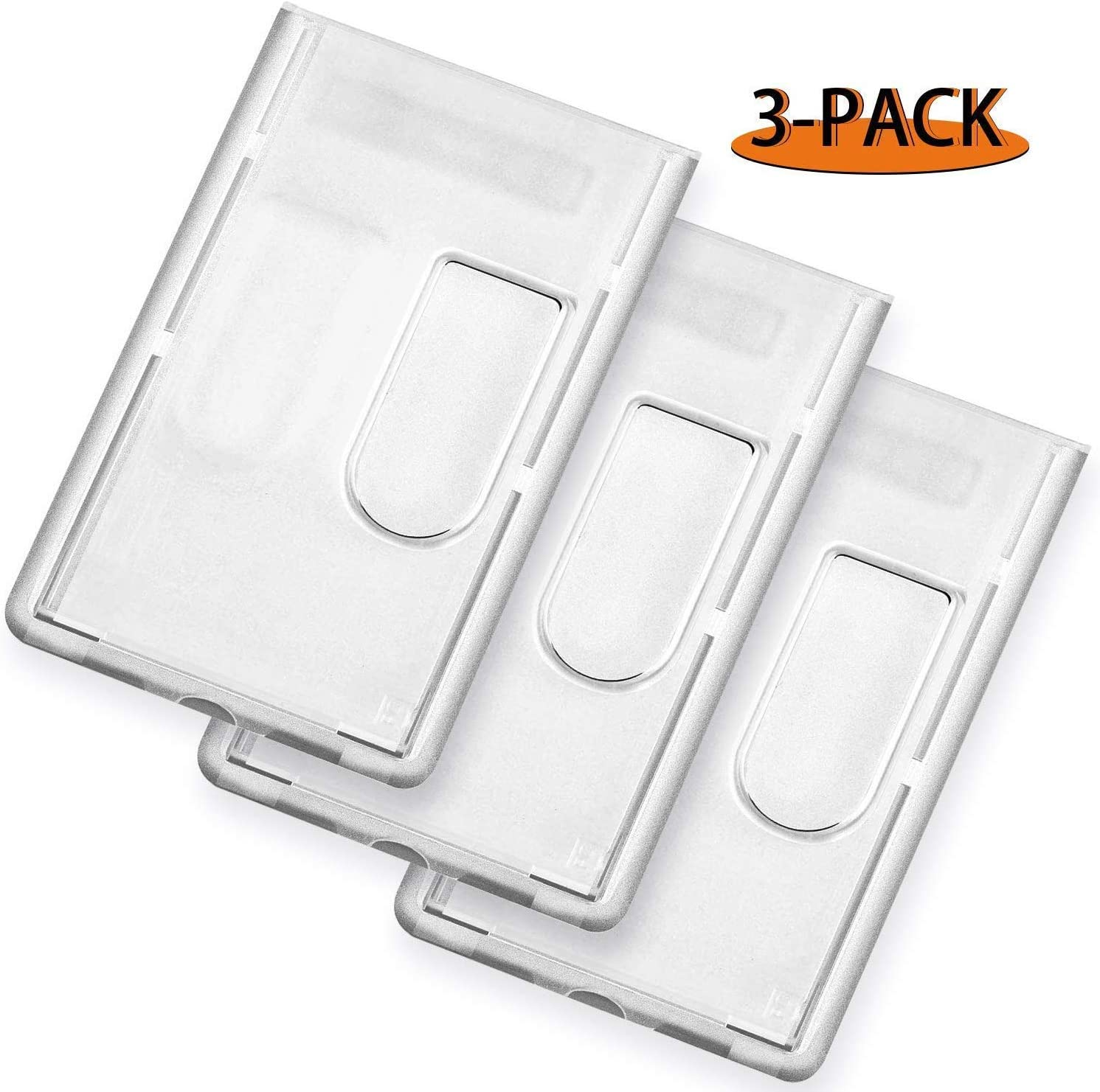 2x Plastic Double Sided  ID Card Holder ID Card Pass Badge Holder Cute Selling