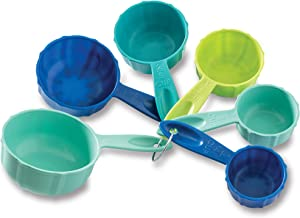 Nordic Ware 1157 Bundt Measuring Cups, Set of 6, Coastal Colors