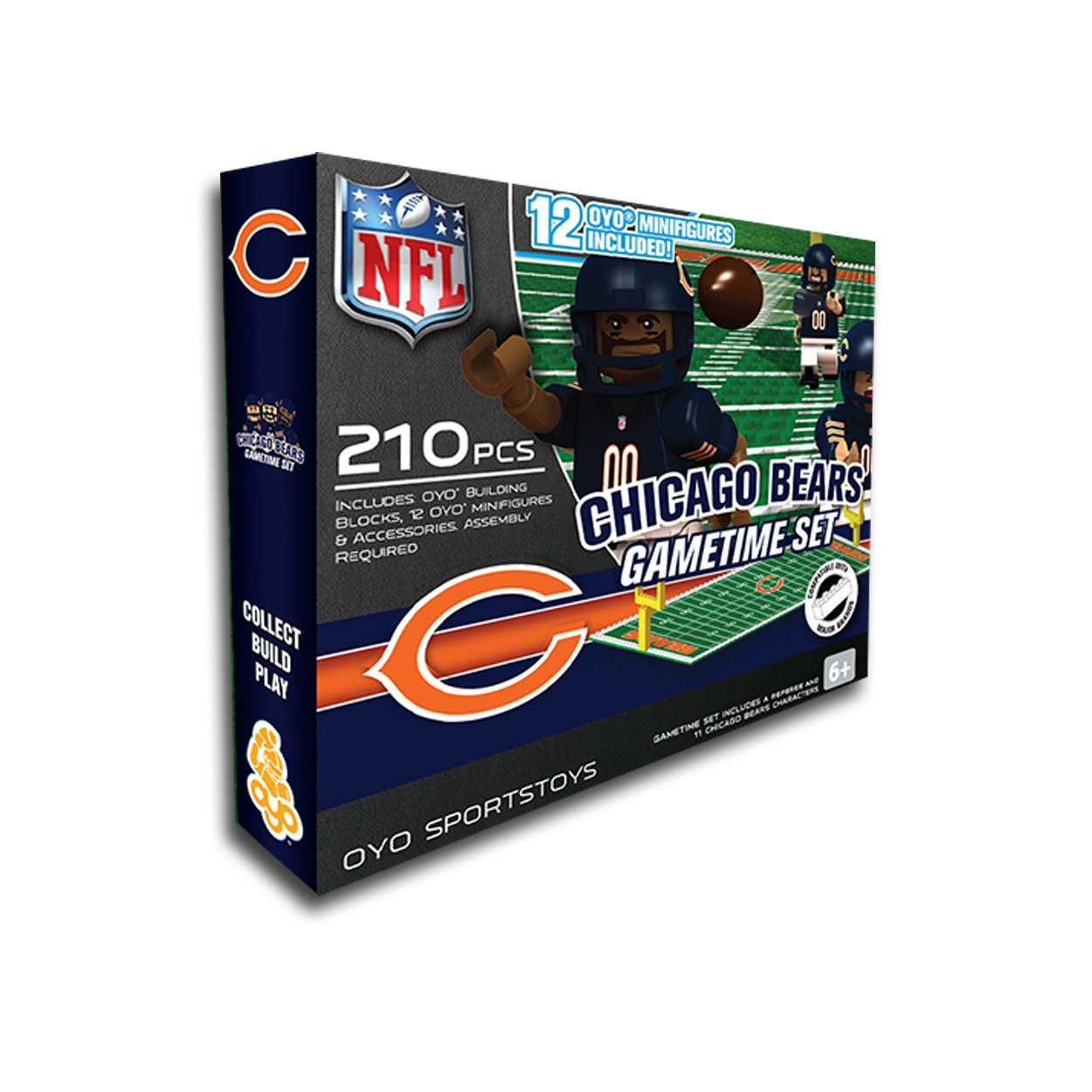 Chicago bears bathroom accessories - Amazon Com Nfl Chicago Bears Game Time Set Sports Fan Toy Figures Sports Outdoors