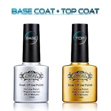 Amazon.com : Perfect Summer Clear Base Coat And Top Coat Set - UV ...