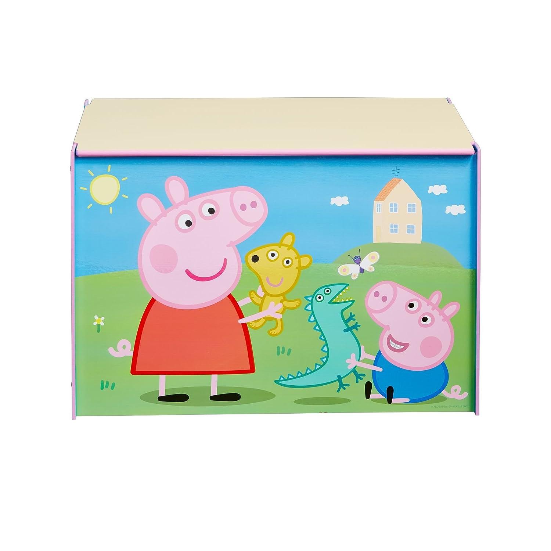 Peppa Pig -  Spielzeugkiste für Kinder – Aufbewahrungsbox für das Kinderzimmer