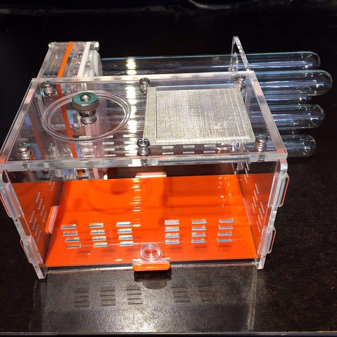 ROUND YUAN 6 Tubos Hormiga Hormiga Transparente casa de Hormiga para niños Inicio Uso de Mascotas Estudiante Dispositivo científico Juguete Hormiga acrílico ...