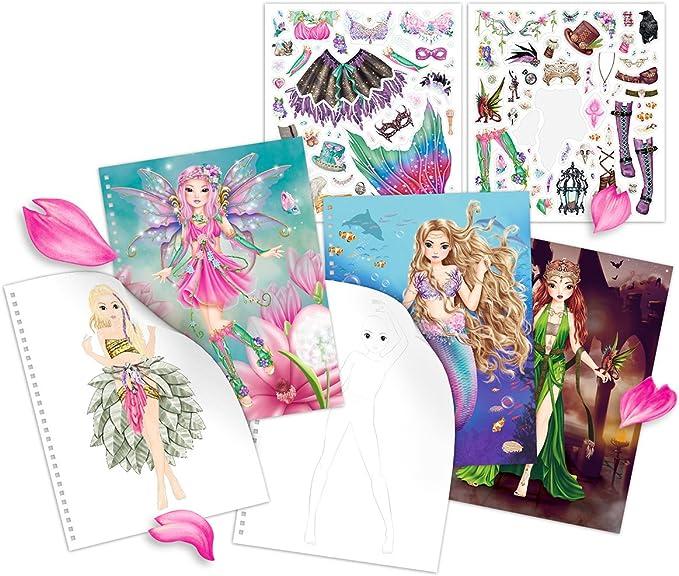 Depesche 10351/Libro para Colorear Fancy Foils Fantasy Model