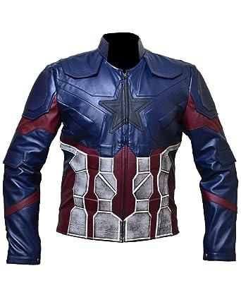 Avengers Infinity War (Chris Evans) Captain America Jacket for Men in Faux Leather (