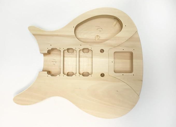DIY Kit de guitarra eléctrica cuerpo sólido R 3HB estilo construir su propio Kit de guitarra: Amazon.es: Instrumentos musicales