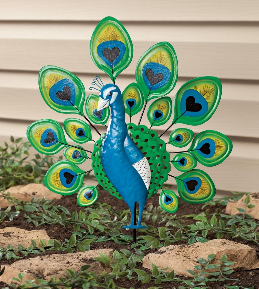 Miles Kimball 351105-840853128458 Maple Lane Creations Peacock Lawn Stake, One Size Fits Gallon by Miles Kimball (Image #2)