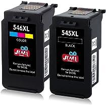JIMIGO 545XL 546XL 545 XL 546 XL Cartuchos Reemplazo Para Canon PG-545 CL-546 Tinta Compatible con Canon PIXMA MG2950 MG2950S MG2550 MG2550S MX495 ...