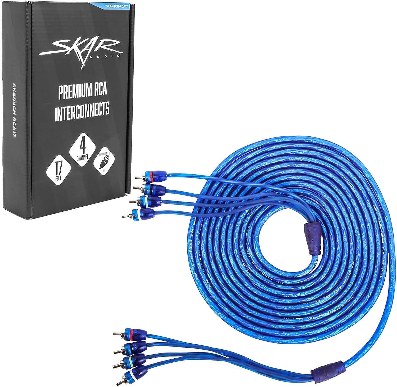 Skar Audio 3-Foot 2-Channel Twisted Pair RCA Interconnect Cable SKAR2CH-RCA3