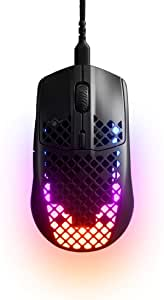 SteelSeries Aerox 3 - Super Light Gaming Mouse - 8,500 CPI TrueMove Core Optical Sensor - Ultra-Lightweight Water Resistant Design - Black