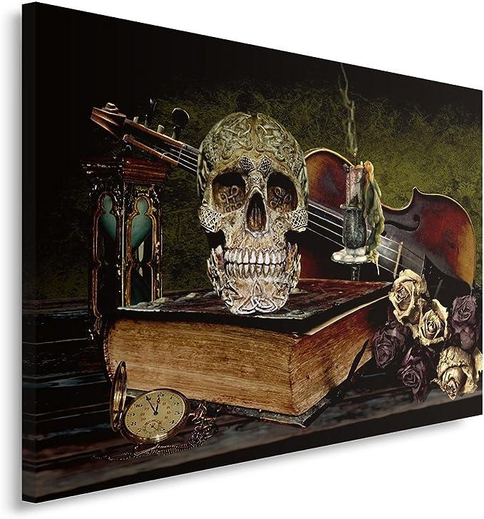 Acheter tableau peinture tete de mort online 12