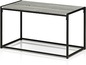 FURINNO Modern Coffee Table, Dark Oak
