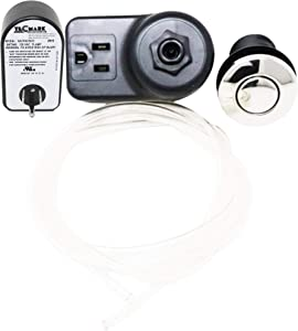 Garbage Disposal Air Switch Kit Sink Top Waste Disposal Stainless Steel On/Off Air Button Food and Waste Disposals Parts
