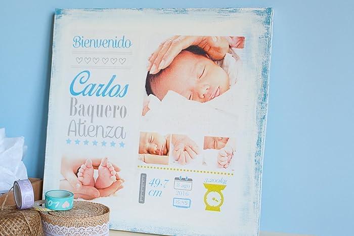 Cartel vintage de madera bebé recién nacido - Fotografia bebé sobre ...