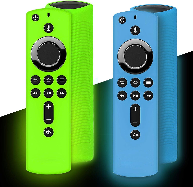 Wevove Silicone Remote Case Glow, Firetv Remote Silicone Case Glow, Shockproof Anti Slip Silicone Remote Case, Compatible with TV 2nd Gen (3rd Gen) Alexa Voice Remote Control: Home Audio & Theater