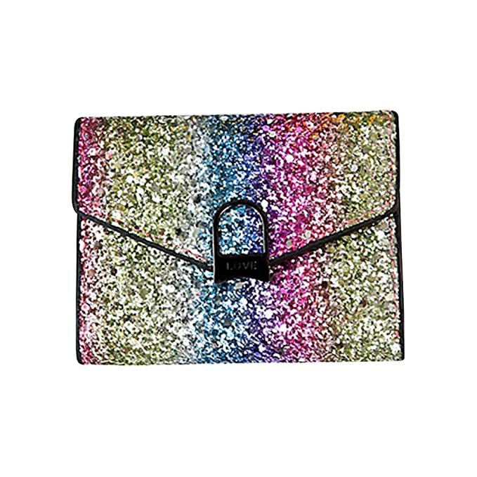 07667e01843 Image Unavailable. Image not available for. Color: OULII Women Bling Wallet Sequin  Purse Evening Handbag Sparkly ...