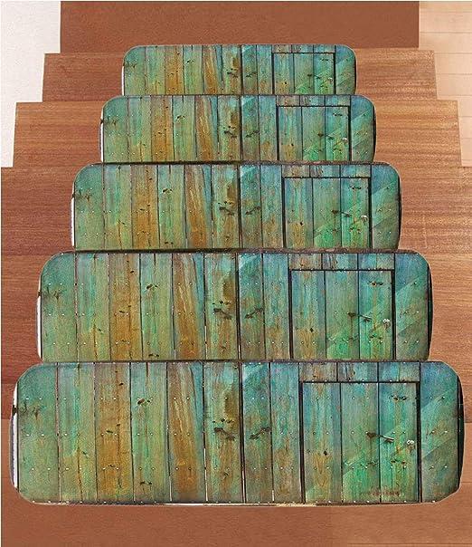 SoSung - Juego de 5 Alfombrillas de Forro Polar para Escalera, diseño de Ancla náutica, Color Coral: Amazon.es: Juguetes y juegos