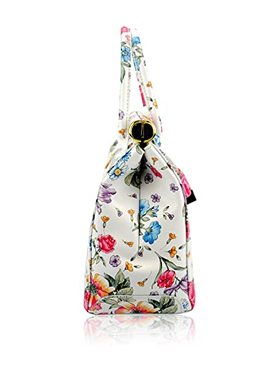 PITTI BAGS Bolso asa de mano Latina Crudo/Multicolor: Amazon.es: Zapatos y complementos