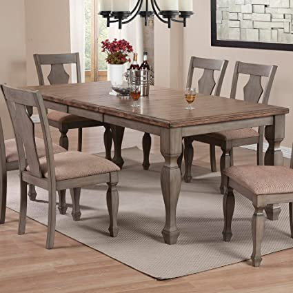 Prime Amazon Com Coaster Riverbend Two Tone Dining Table With Download Free Architecture Designs Estepponolmadebymaigaardcom