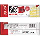 Paleo Protein Bar (Vanilla Cake) 12 Bars (180 Cal, 20g Egg White Protein 4 Net Carbs)