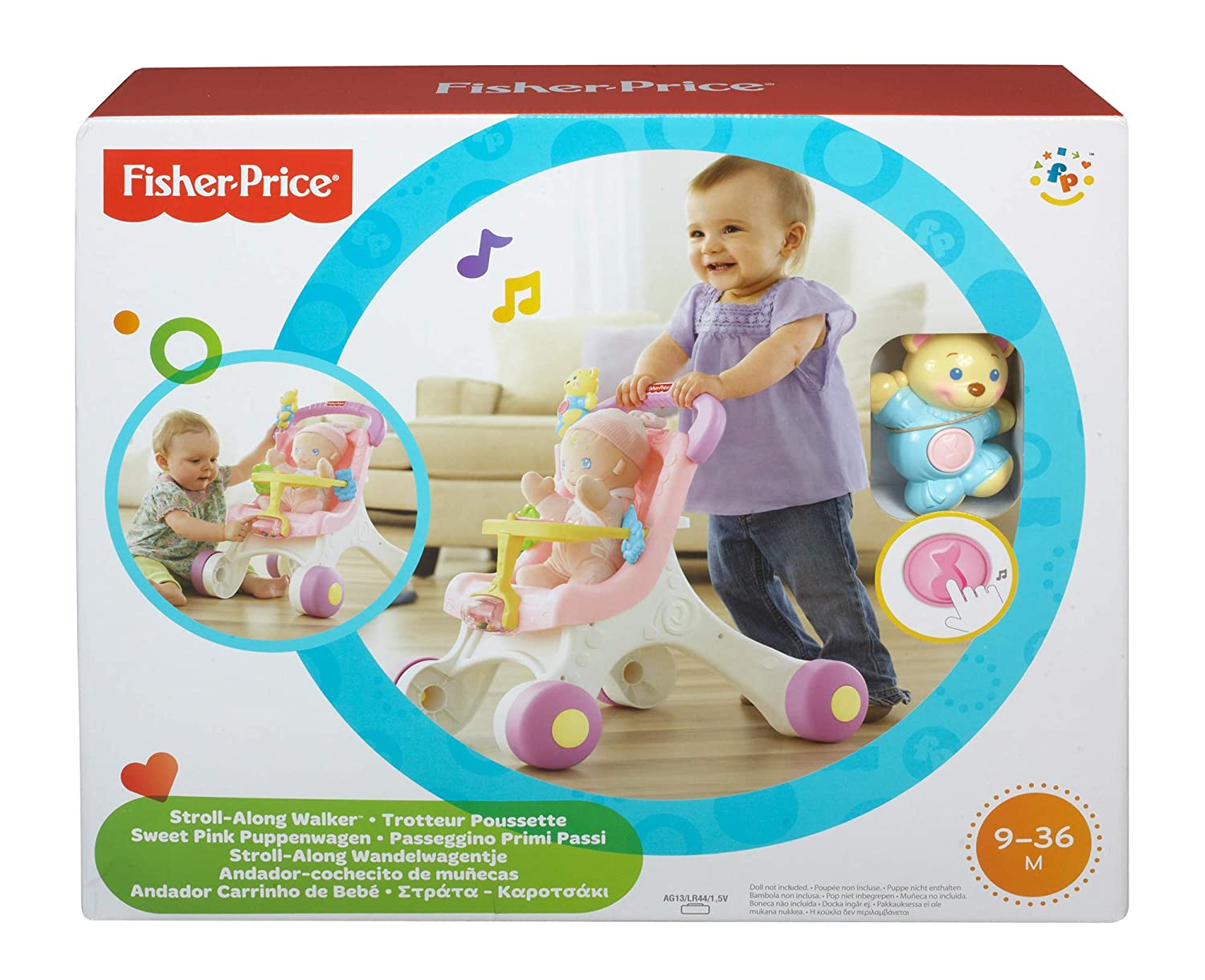 Fisher-Price poussette rose pour poupons,