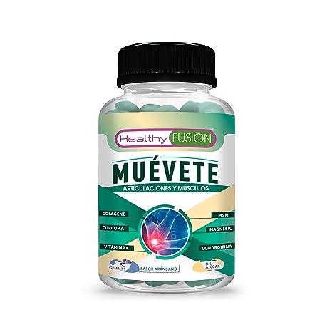 Muévete | Potente antiinflamatorio con acción analgésica | Reduce y elimina eolores | Regenerador articular | Potente cúrcuma + colágeno + magnesio + ...