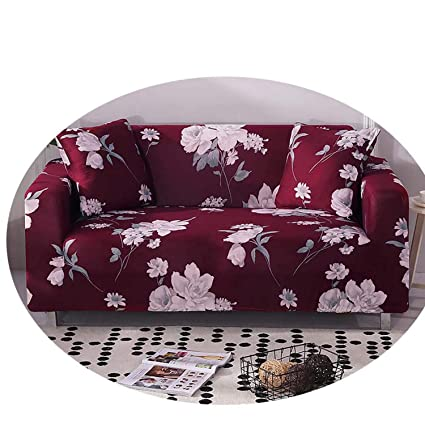 Amazon.com: Plaid Sofa Cover Spandex Slip Cover Sofa Elastic ...