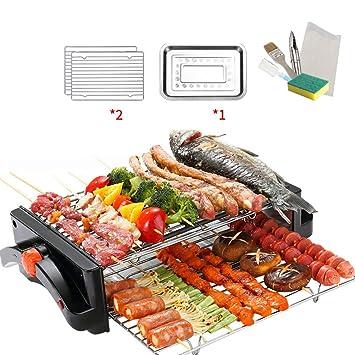 Raclette Grill | Parrilla eléctrica de 2 Pisos con Mini Sartenes ...