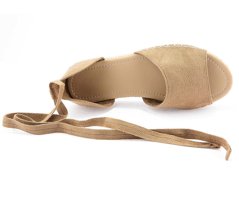 Sandals Foot wear Casual Flats Comfortable Beach Beach Beach Sandals Ankle Strap Med High Heels Shoes1,as pic,10.5 B07FW4BXY8 Sport Sandals & Slides b99eff